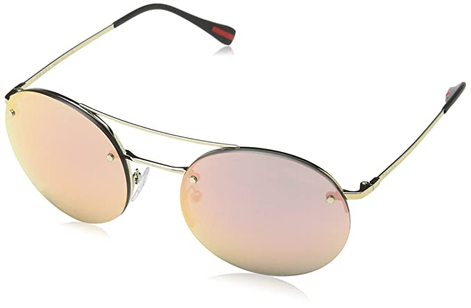 f3c508179fa77 Prada Linea Rossa Unisex 0PS 54RS Pale Gold Black Grey Mirror Rose Gold  Sunglasses