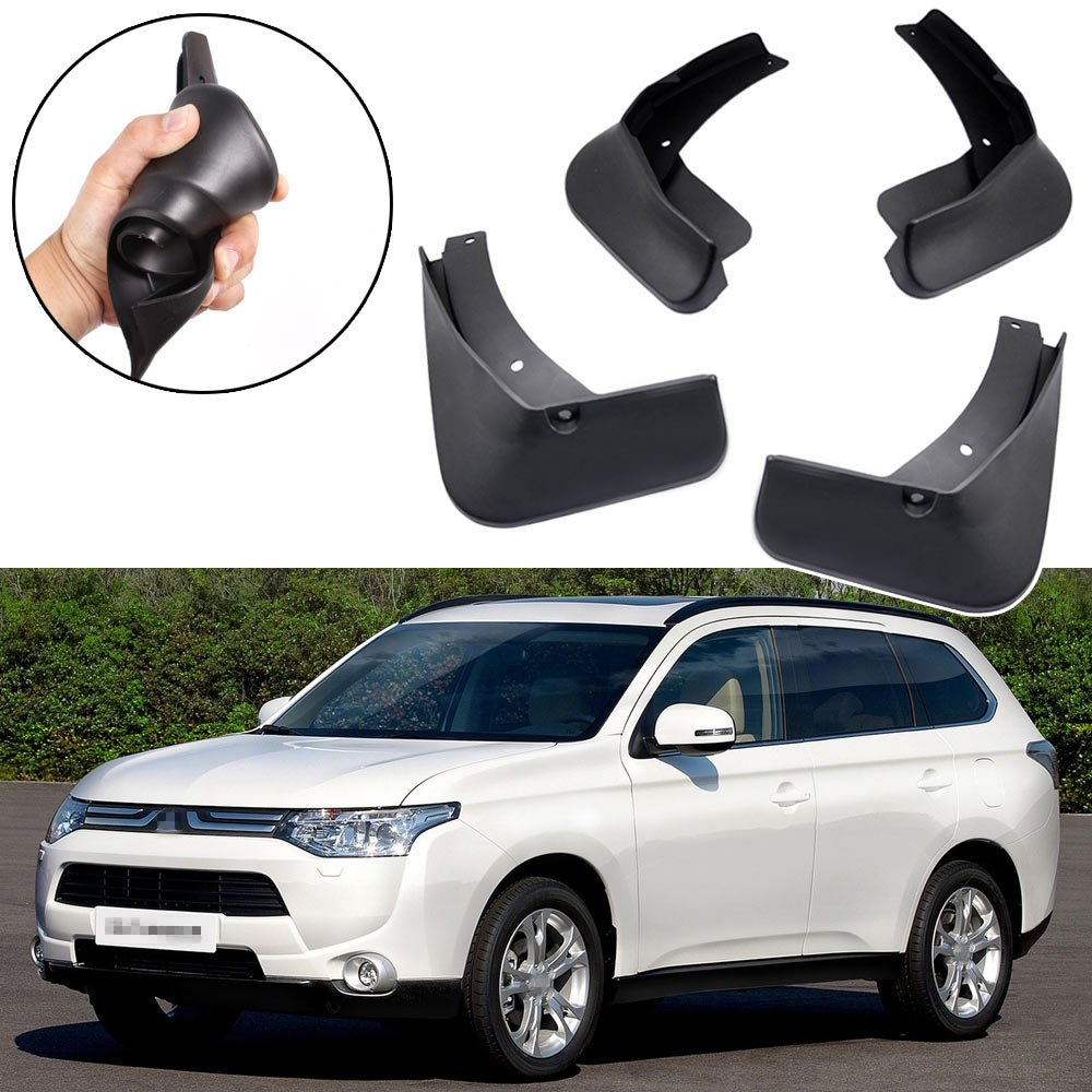 SPEEDLONG 4Pcs Car Mud Flaps Splash Guard Fender Mudguard for Mitsubishi Outlander 2013-2015 14