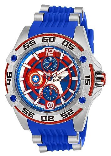 Invicta 27024 Marvel - Captain America Reloj Unisex acero inoxidable Cuarzo Esfera azul: Amazon.es: Relojes