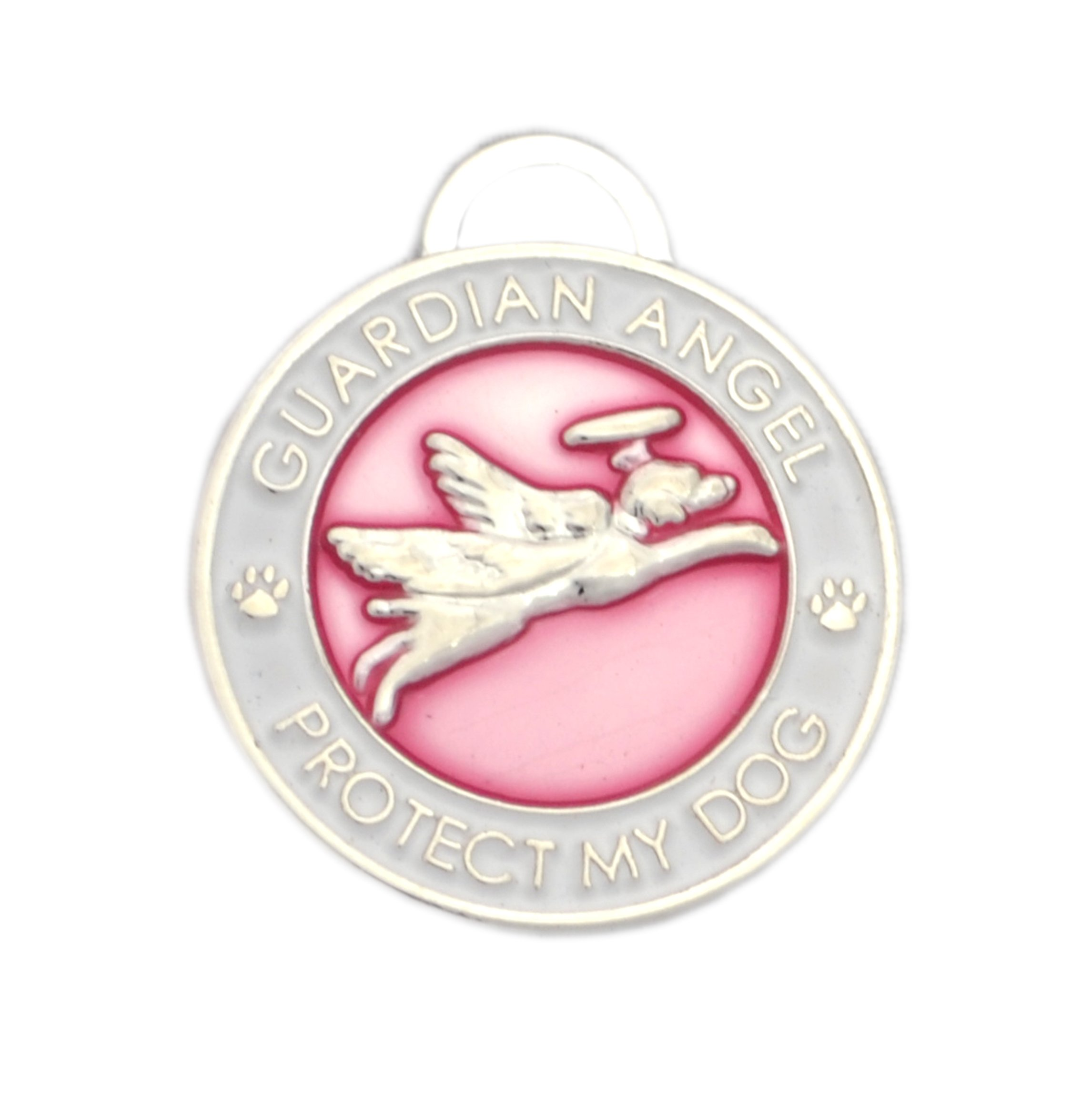 Luxepets Pet Collar Charm, Guardian Angel Dog, Pink by Luxepets