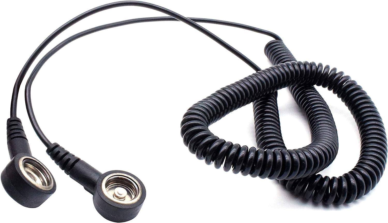 Juego completo de protecci/ón para el trabajo 65 x 50 cm pulsera pinzas enchufe de tierra norma EN 61340-5-1 QUADRIOS GmbH ESD cable en espiral cable de tierra pincel ESD antiest/ático