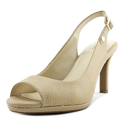 Giani Bernini Womens Blankaa Peep Toe Ankle Strap Neutral Sand Size 8.5
