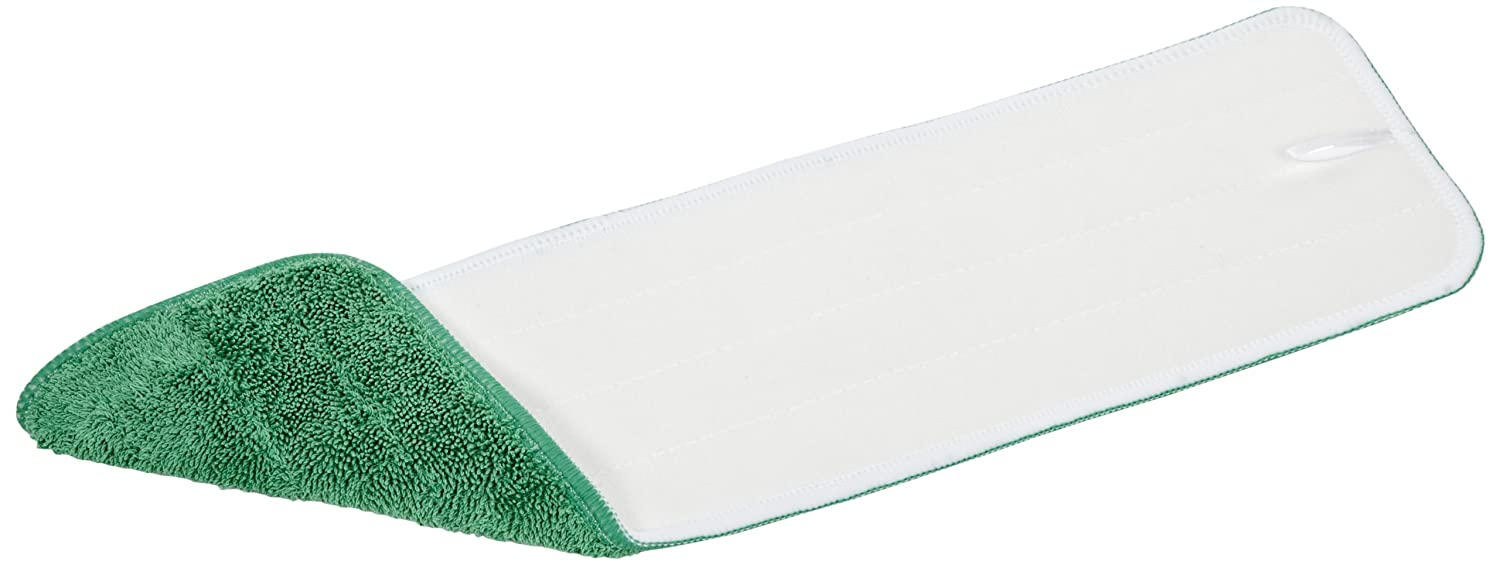 Case of 12 Green 18 Length x 5 Width Wilen C108018 18 Length x 5 Width Continental Commercial Products Super Pro II Microfiber Flat Mop Refill