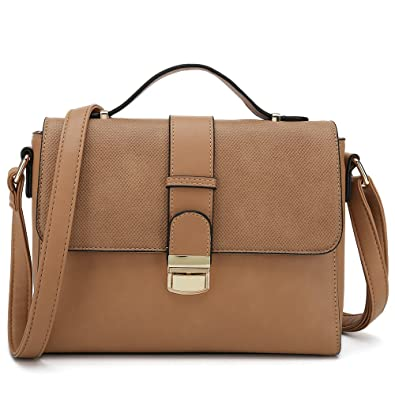 1325be76b8ba Women s Cross Body Handbags for Ladies Desginer Purses Stylish Shoulder Bags  (Brown)