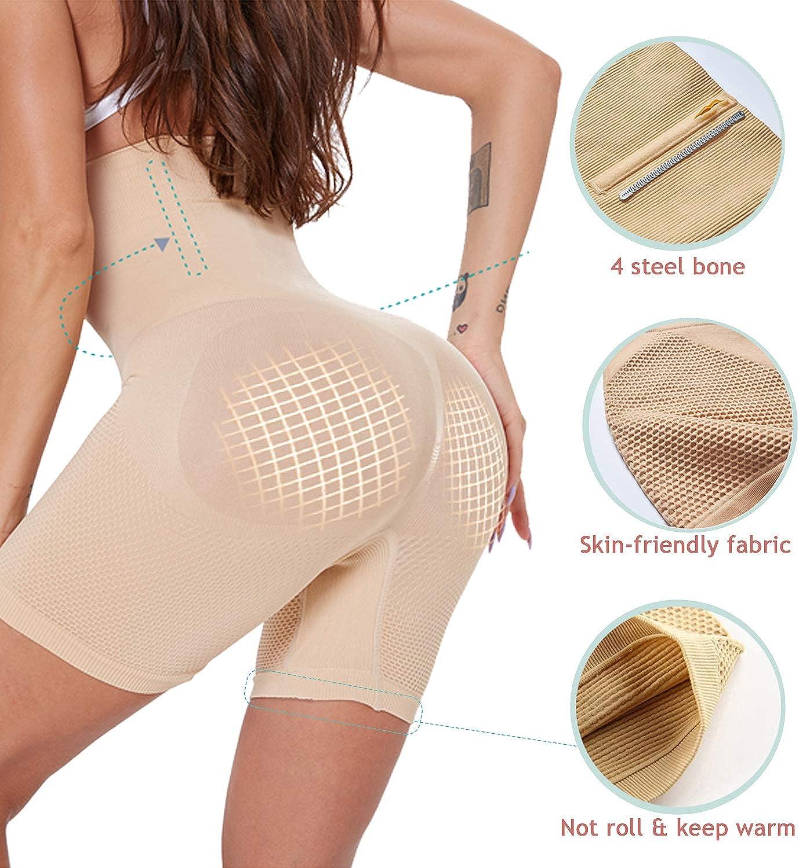 ANGOOL Intimo Modellante da Donna Traspirante Confortevole Mutande Contenitive a Vita Alta Shapewear Body Shaper Dimagrante