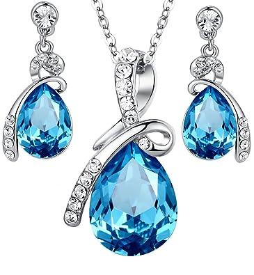 Damen schmuck  Arco Iris Schmuck Damen Schmuck-Set Anhänger Halskette und ...