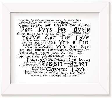 Florence /& The Machines You Got The LoveSong Lyric PRINTCANVAS ART GIFT