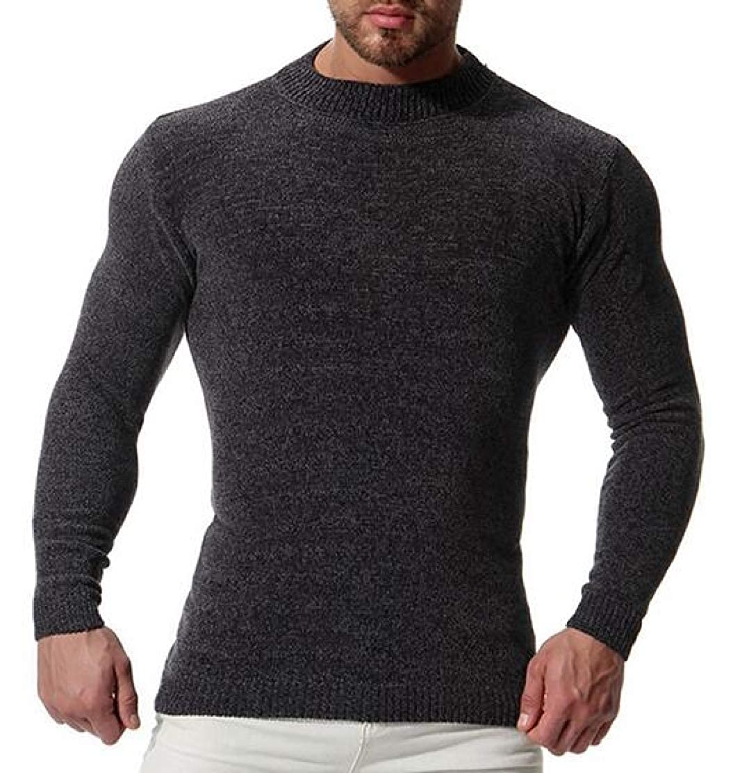 M/&S/&W Mens Casual Slim Fit Crewneck Knit Sweaters Casual Knitted Pullover