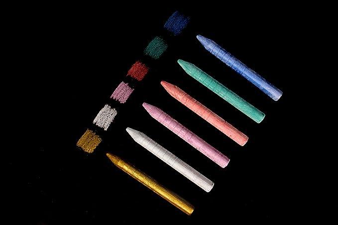 Faber Castell 12 Stück metallic-Wachsmalkreiden gut für schwarzes Papier