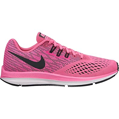 hot sale online 4bd18 7b87a Nike Women's Zoom Winflo 4 Pink Running Shoes (UK-4 (US-6.5 ...