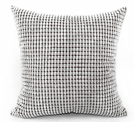 Multi-size Candy Color Corduroy Throw Pillow Cover Sham Case LivebyCare Cushion Covers Pattern Zipper