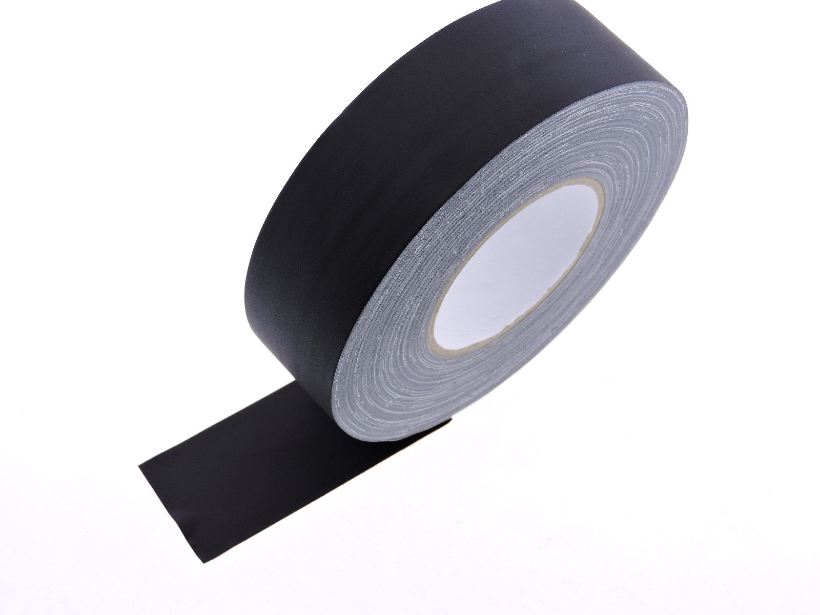 2'' x 60 yd Black Gaffers Tape HEAVY 12.8 Mil Smooth Matte Finish PRO Floor Stage Gaff Tape Audio Video Theater Cloth Reinforced Rubber Adhesive Removable High Traffic No Residue 48MM X 55M
