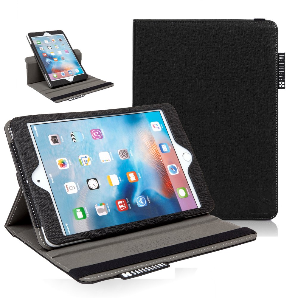 iPad Mini EMF Radiation Blocking Case - SafeSleeve Tablet Case For iPad Mini 1, 2, 3, 4 - Black by SafeSleeve