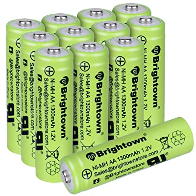 NiMH Rechargeable AA Battery Pack of 12