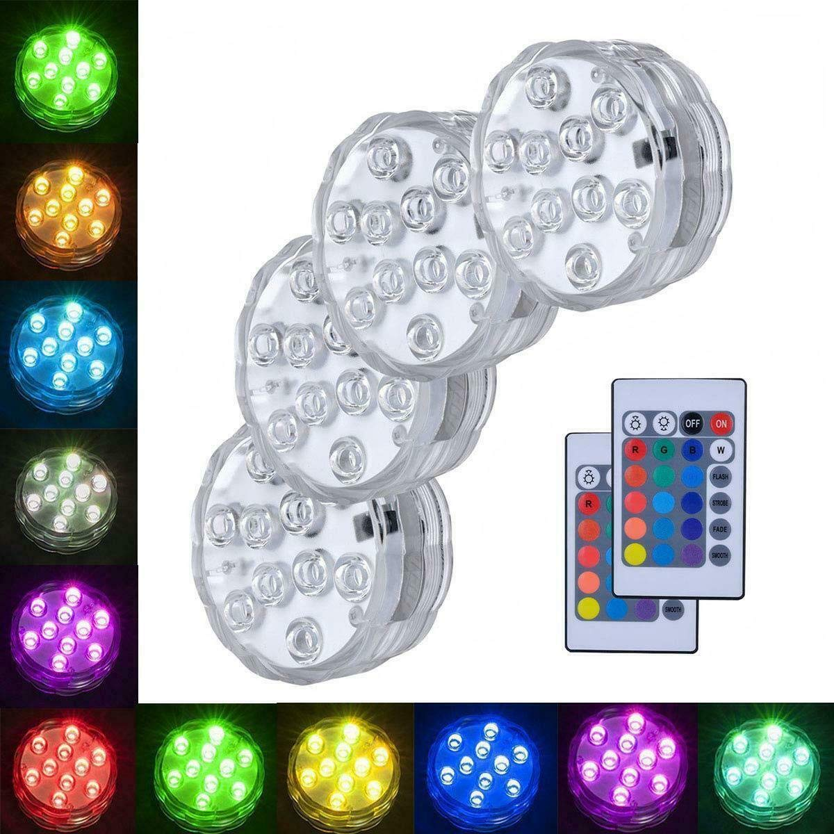 4X Remote Control Color Colored LED Light Boundery Style Waterproof EFX Accent A