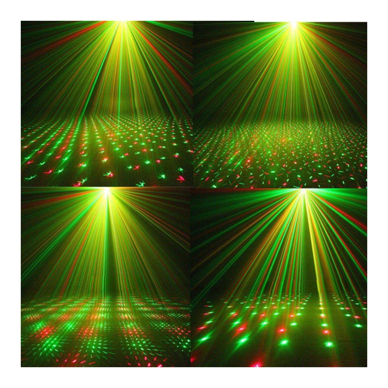Laser Projector Stage Lights Mini LED R/&G Lighting Xmas Party DJ Disco KTV Show
