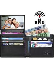Cartera Cuero Mujer Bloqueo RFID Monedero Piel Mujer Grande con Muchos Bolsillos, Billetera Larga Mujer