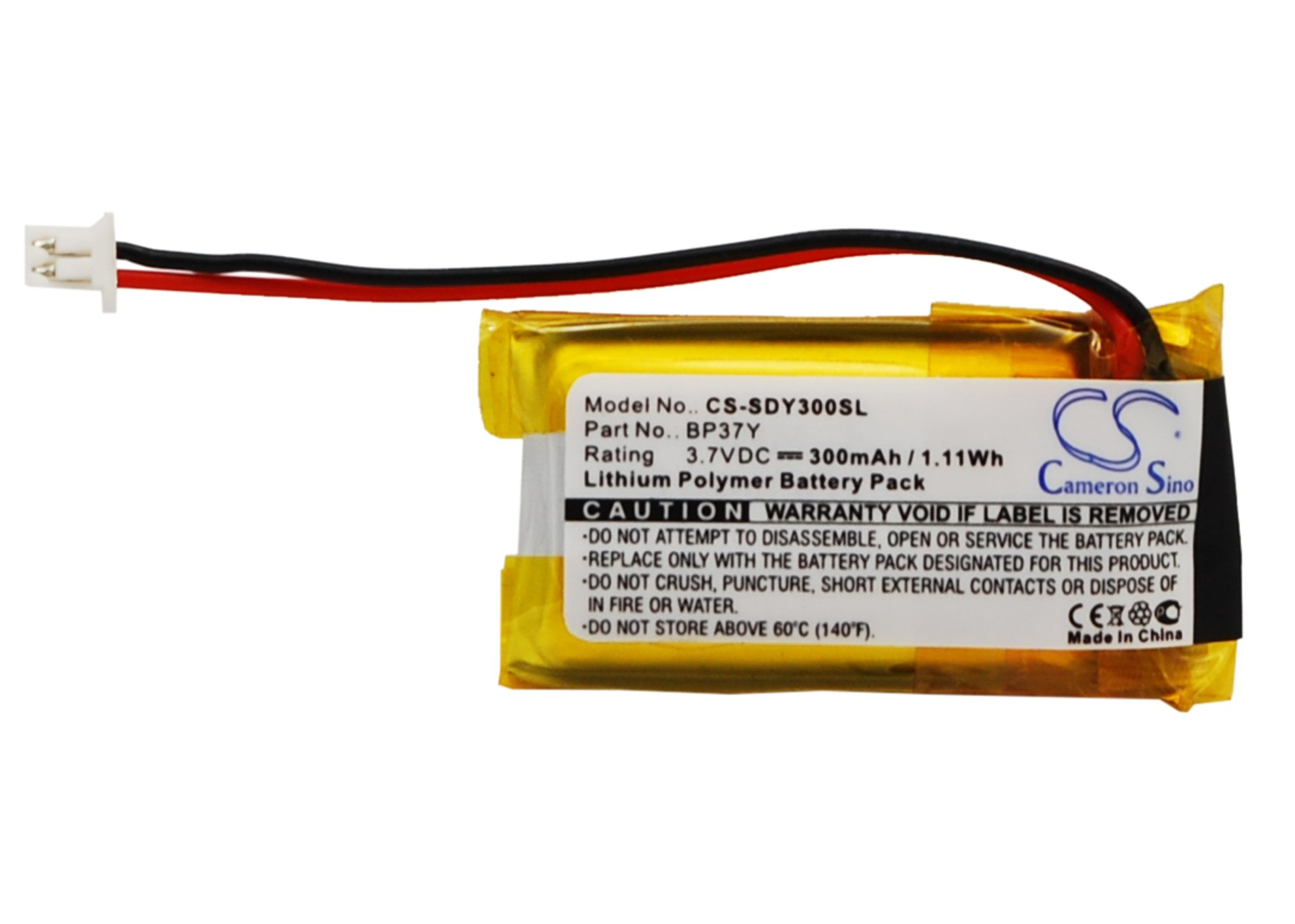 Battery Replacement for DOGTRA YS-300 Bark Collar YS300 bark Control Collar BP37Y BP-37Y by BCXY