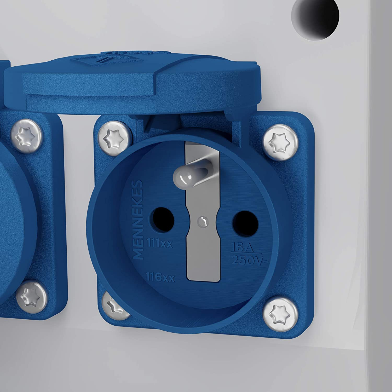 Druckluft Pendel Energiew/ürfel Stromverteiler mDV franz/ösisch//belgische System 2x230V//16A f/ür Druckluft /∅8mm mit 1,5m Verzinktkette 2756
