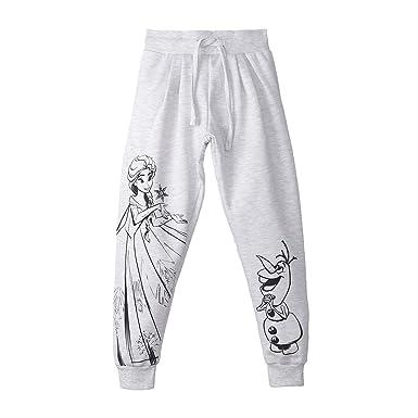 47d6a6f52 Frozen By Kidsville Girls' Relaxed Regular Fit Trousers(FZ1GPB674BR_Light  Grey Mel_4-5 Years