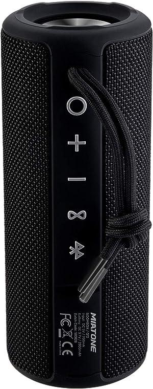 MIATONE Outdoor Portable Bluetooth Speakers Waterproof Wireless Speaker (Black)