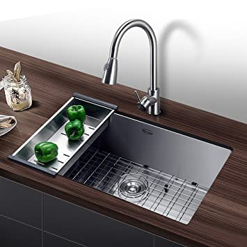 harrahs 32 inch commercial undermount single bowl stainless steel kitchen sink outer lip thickness 11 gauge. Interior Design Ideas. Home Design Ideas