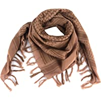 FOCUHUNTER Shemagh Scarf Military Tactical Desert Keffiyeh Scarf Head Neck Scarf Cotton 43x43 inches Colorful Arab…