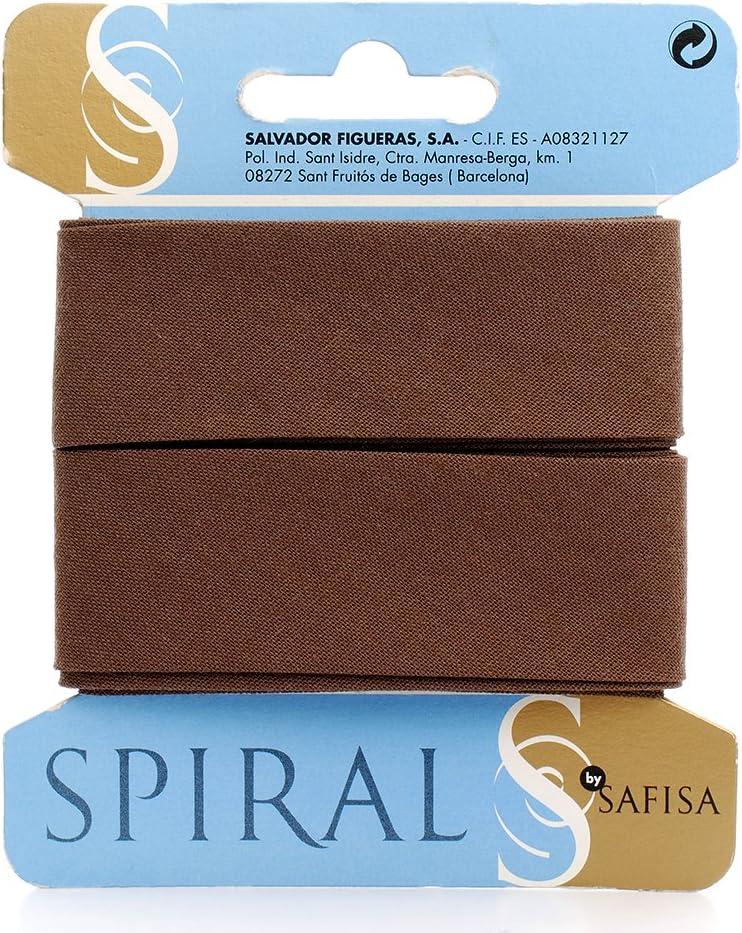 Spiral Cinta bies algodón y poliéster Colección Funcional (marrón, Ancho 30mm, presentación en plegador de 2,5 Metros): Amazon.es: Hogar