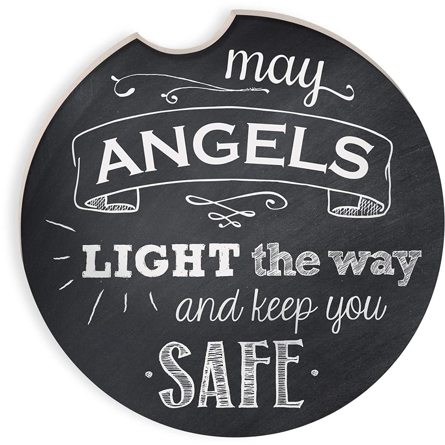 Angelstar 13465 May Angels Light the Way Auto Coaster, 2-3/4', Multicolor 2-3/4