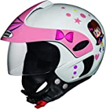 Studds Marshall D1 Open Face Helmet (Girl's, White N8, XS)