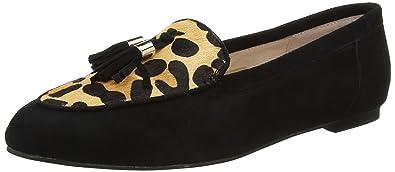Office Fedora, Mocassins Femme, Black (Leopard Leather), 40 EU