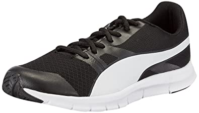 Puma Flexracer Men's Black and White DP Sneakers -6 UK/India (39 EU