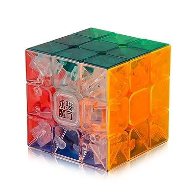 Roxenda Speed Cube, Profesional 3x3x3 Speed Cube - Torneado rápido y Suave - Helado sólido y sin Etiquetas, el Mejor Juguete mágico 3D Puzzle: se vuelve más rápido Que el Original (T6): Juguetes y juegos