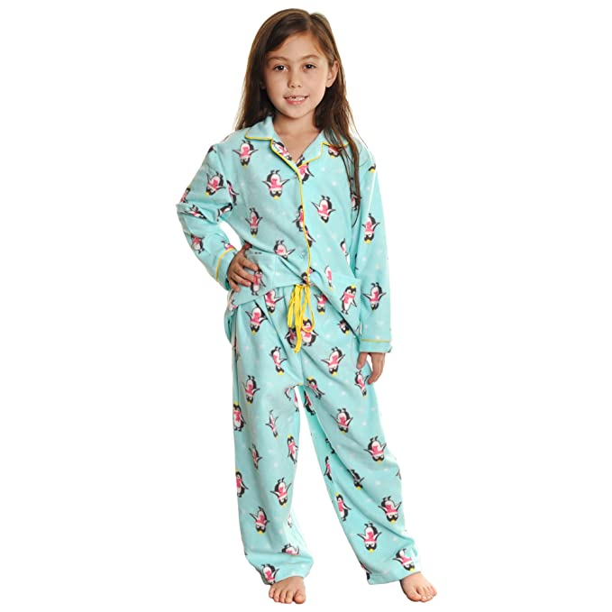 Angelina para niña de acogedor forro polar pijama Set - Multi -