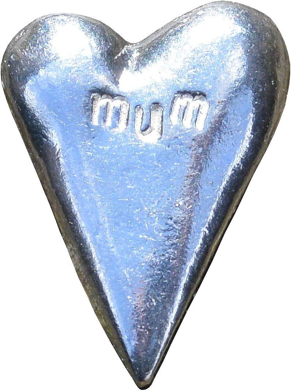 Coeur Les Etains de Jumilhac Porte Bonheur Fabrication Artisanale Fran/çaise Maman, M/ère en Etain Mum
