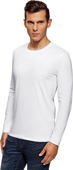 oodji Ultra Hombre Hombre Camiseta de Manga Larga (Pack de 2 ...