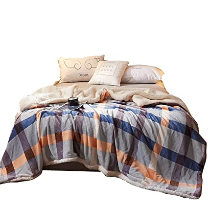 Image Unavailable. Image not available for. Color  Uozzi Bedding Sherpa  Fleece Blanket ... a1eb3610e
