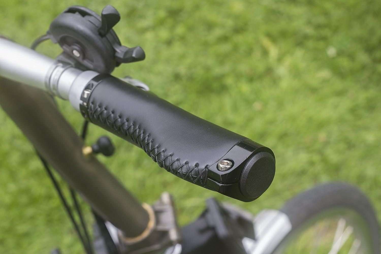 Mango ergonómico para Brompton Bicicleta Plegable Eco Piel aluminio bloqueo Negro: Amazon.es: Deportes y aire libre