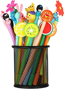 30 Pieces Cute Cartoon Gel Ink Pens Rollerball Pens Assorted Style Writing Pens for Home Office School Kids Gift