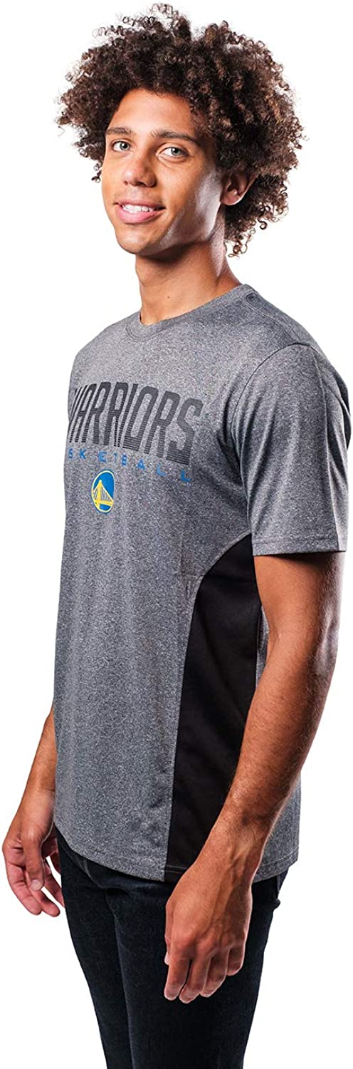 Ultra Game NBA Golden State Warriors Mens Active Tee Shirt Charcoal Heather Large
