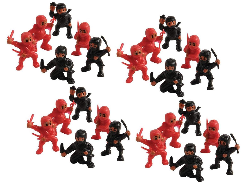 """2 Dozen (24) MINI Plastic NINJA WARRIOR Figures 1.25"""" - Toys Birthday Party Favors Prizes Toys Cupcake Toppers Teacher Rewards"""