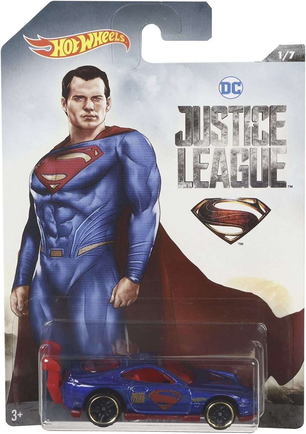 HOT WHEELS JUSTICE LEAGUE RD 09 THE FLASH NEW ON CARD