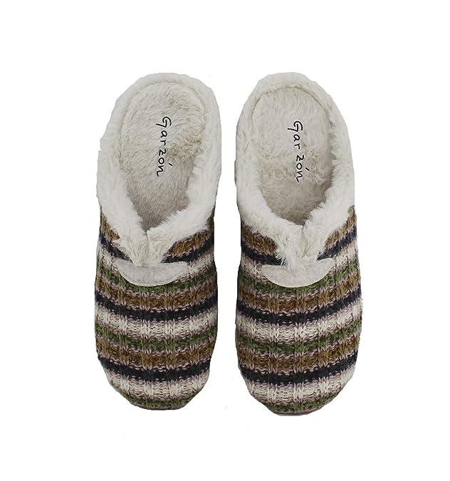 Garzón - Zapatillas de casa Beige Mujer Forro Borreguito - Beige, 41: Amazon.es: Zapatos y complementos