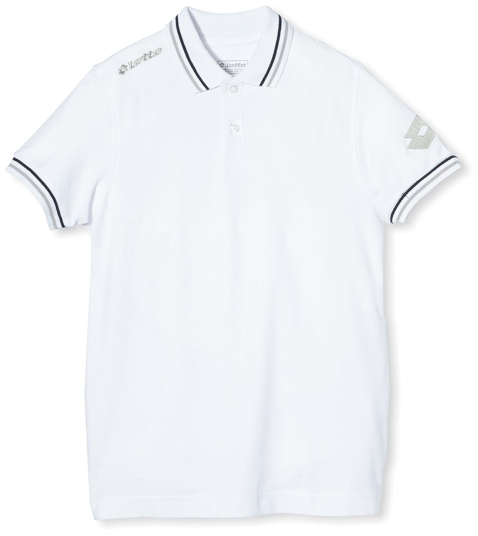 Lotto Polo Shirt Omega Off PQ JR, niño, Blanco (White), S: Amazon ...