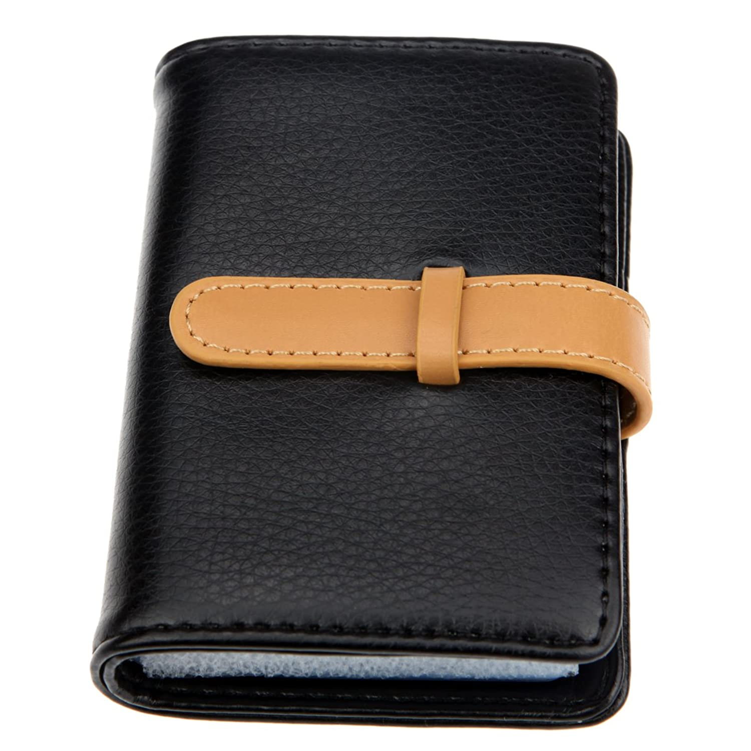 Amazon Com Dker Pu Leather Credit Card Holder With 26 Card Slots