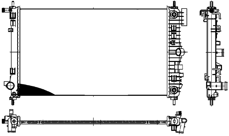 A PREMIUM Engine Cooling Radiator Fits OPEL SAAB ... on