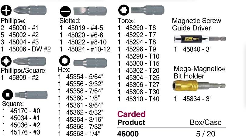 IVY Classic 45438 1-Inch x 5//32-Inch Hex Tamper Resistant Insert Bit Impact Plus 10-Pack