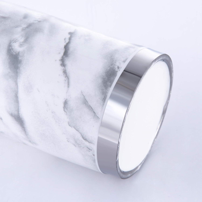 4 Piece Bathroom Accessories Ceramic Soap Dispenser Soap Dish and Toothbrush Tumbler Silver Gold Toilet Brush Sw/änlein Bathroom Set