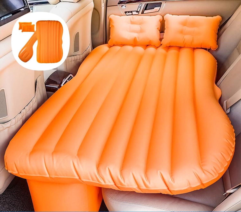 車のインフレータブルマットレス旅行キャンプエアベッドユニバーサルエアカウチ B07FQPBTCY 16 16