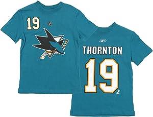 Reebok San Jose Sharks NHL Big Boys Youth Joe Thornton #19 Player T-Shirt, Teal